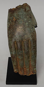 Early 19th Century, Burmese Bronze Buddha's Hand