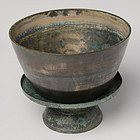 12th Century, Angkor Vat, A Set of Khmer Bronze Bowl with Tray