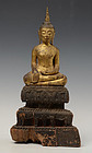 18th Century, Thai Wooden Seated Buddha