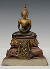18th Century, Ayutthaya, Thai Wooden Seated Buddha
