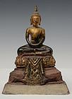 18th Century, Ayutthaya, Thai Wooden Seated Buddha