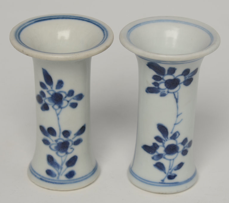 Early18th C., Chinese Blue and White Candle Holder