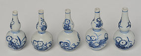 Early 18th C., Chinese Porcelain Blue and White Miniature Jarlet