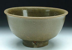 A Ming Dark Green Glazed Bowl