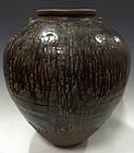 15th Century, Burmese Brown Glazed Jar