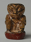 19th Century, Mandalay, Burmese Wooden Medicine Figure of Nat