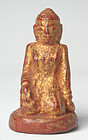 19th Century, Mandalay, Burmese Wooden Medicine Figure of Nat