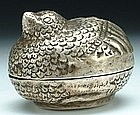 A Miniature Deer-Shaped Silver Box