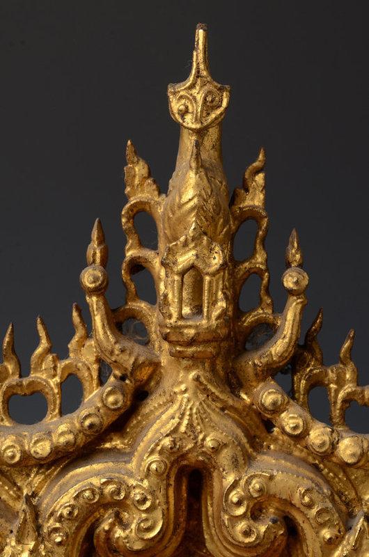 19th Century, Mandalay, Burmese Wooden Buddha's Throne