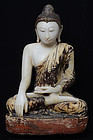 Early 19th Century, Burmese Alabaster Seated Buddha