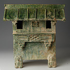 Han Dynasty, Chinese Green Glazed Pottery House