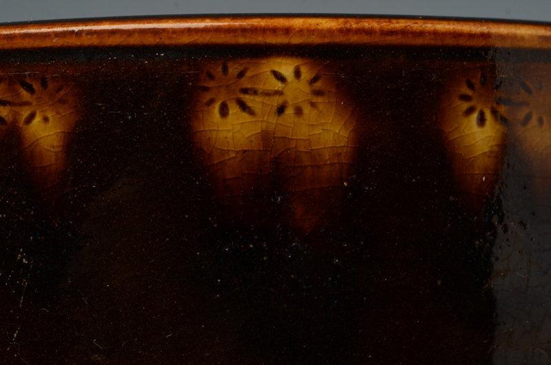 Mid-20th C., Showa, A Pair of Japanese Ceramic Hibachi Vessels