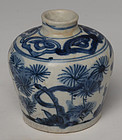 16th Century, Ming, Chinese Porcelain Blue and White Jarlet
