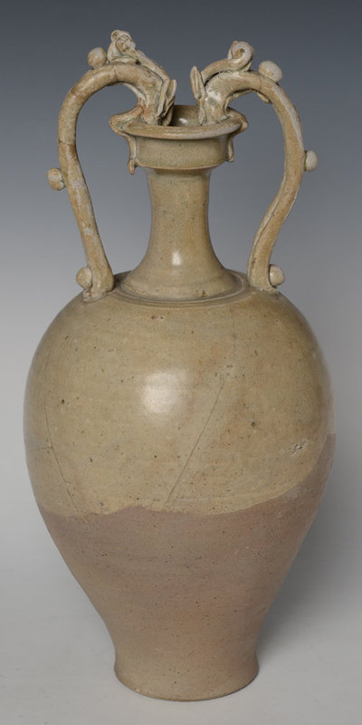 10th-13th C., Song Dynasty, Chinese Ceramic Olive Green Vase