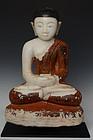17th C., Shan, Burmese Alabaster Seated Disciple