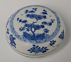 Early 18th C., Kangxi, Chinese Blue and White Covered Box