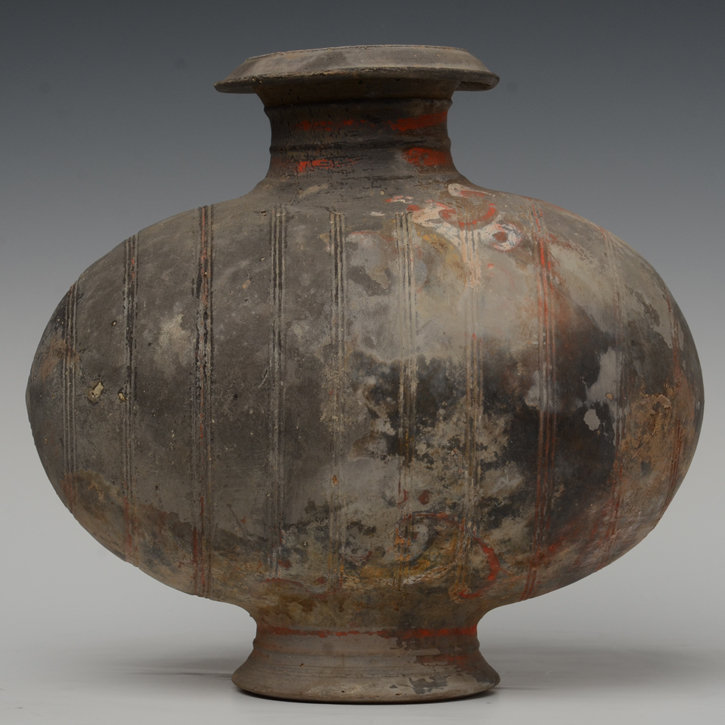 Han Dynasty, Chinese Pottery Cocoon Jar