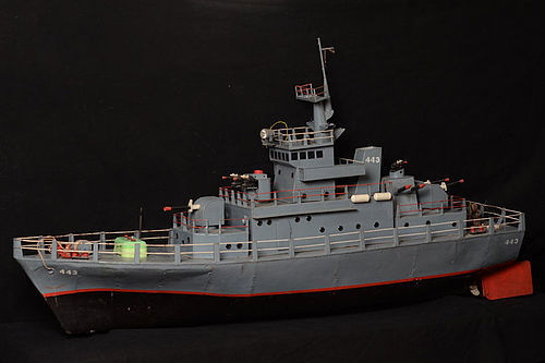 Burmese Metal Miniature Warship