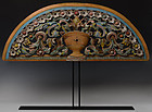 Early 20th Century, Burmese Wood Carving in Flower Design