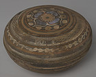 Han Dynasty, Chinese Painted Pottery Covered Box