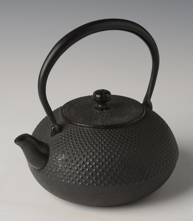 Mid-20th Century, Showa, Japanese Steel Teapot