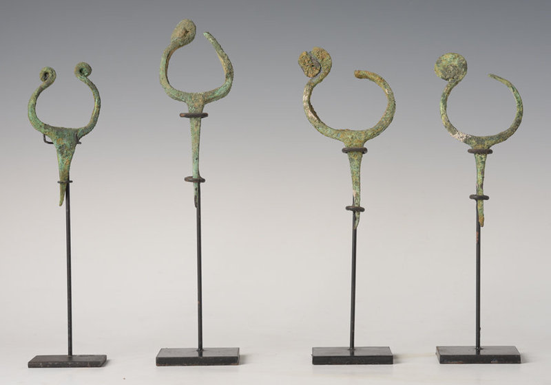 Over 3,000 Years, A Set of Dong Son Bronze Bracelets with Large Pin
