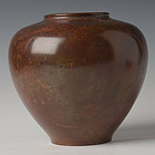 Early 20th C., Showa, Japanese Bronze Vase
