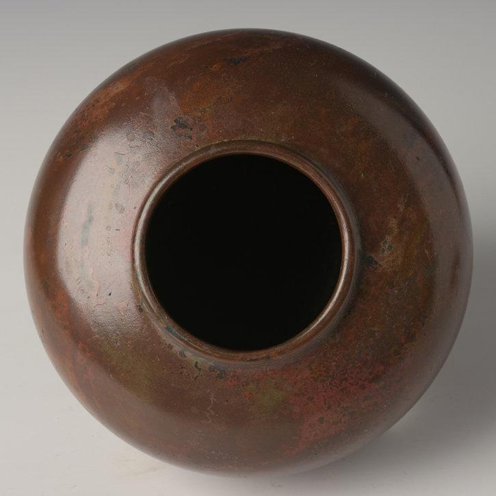Early 20th Century, Showa, Japanese Bronze Vase