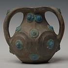 Han Dynasty, Rare Miniature Chinese Pottery Amphora
