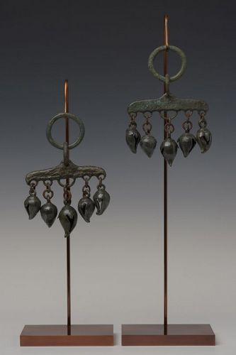 12th C., Angkor Vat, A Pair Khmer of Bronze Horse Decoration