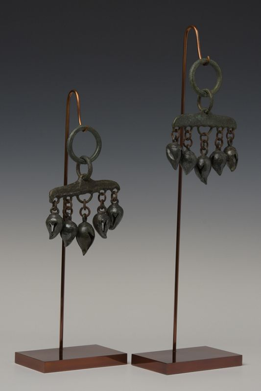 12th Century, Angkor Vat, A Pair of Khmer Bronze Horse Decoration