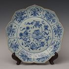 Early 18th C., Kang Xi, Large Chinese Porcelain Blue and White Plate