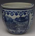 19th C., Guang Xu, Chinese Porcelain Blue and White Jar
