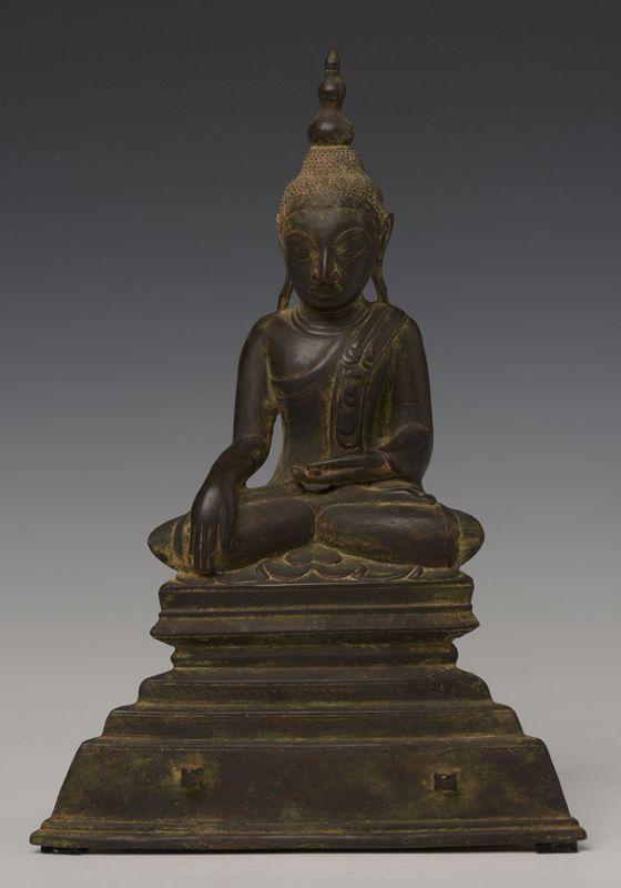 18th Century, Shan, Burmese Bronze Seated Buddha