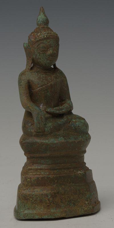16th Century, Shan, Burmese Bronze Seated Buddha