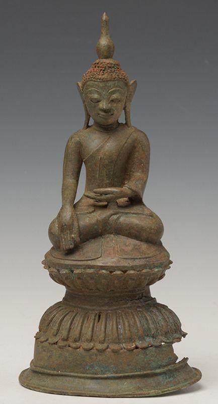 16th Century, Ava, Burmese Bronze Seated Buddha