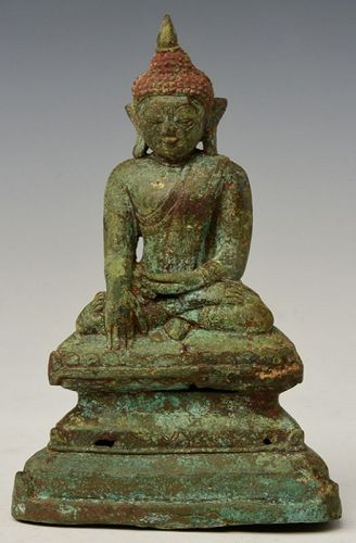 15th Century, Ava, Burmese Bronze Seated Buddha