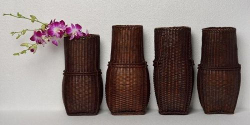 20th Century, Laos Bamboo Baskets