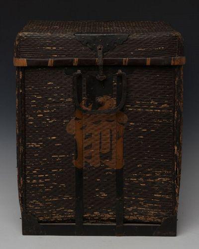 Late 19th Century, Meiji, Japanese Wooden Samurai Armor Case