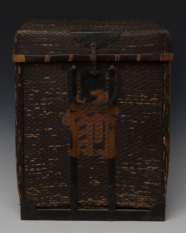 Late 19th Century, Meiji, Japanese Wooden Samurai Armor Case