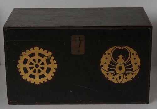 19th Century, Edo, Japanese Wooden Samurai Armor Case
