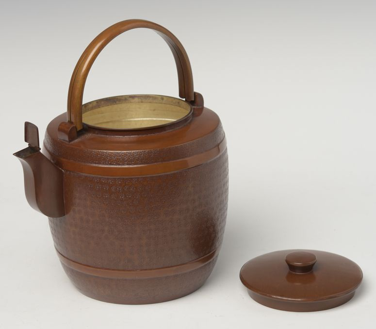 Early 20th Century, Showa, Japanese Bronze and Cooper Teapot