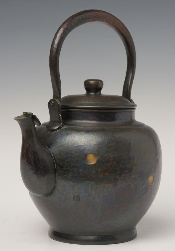 Early 20th Century, Showa, Japanese Bronze Teapot