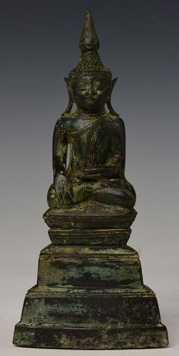 17th Century, Shan, Burmese Bronze Seated Buddha