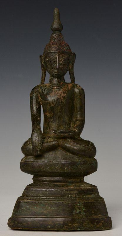 17th Century, Shan, Burmese Bronze Seated Buddha