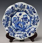 Early 18th Century, Kang Xi, Chinese Porcelain Blue and White Plate