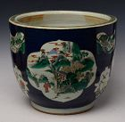 19th Century, Guang Xu, Chinese Porcelain Polychrome Bowl