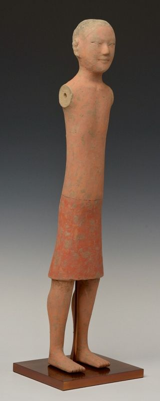 Han Dynasty, Chinese Painted Pottery Stick Man