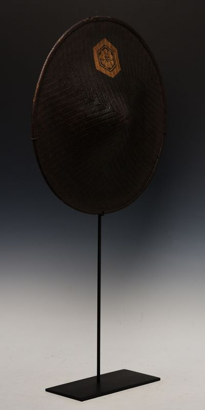 Early 20th Century, Showa, Japanese Bamboo and Lacquered Hat