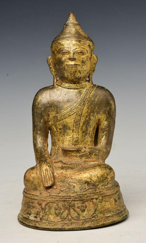 18th Century, Laos Bronze Seated Buddha